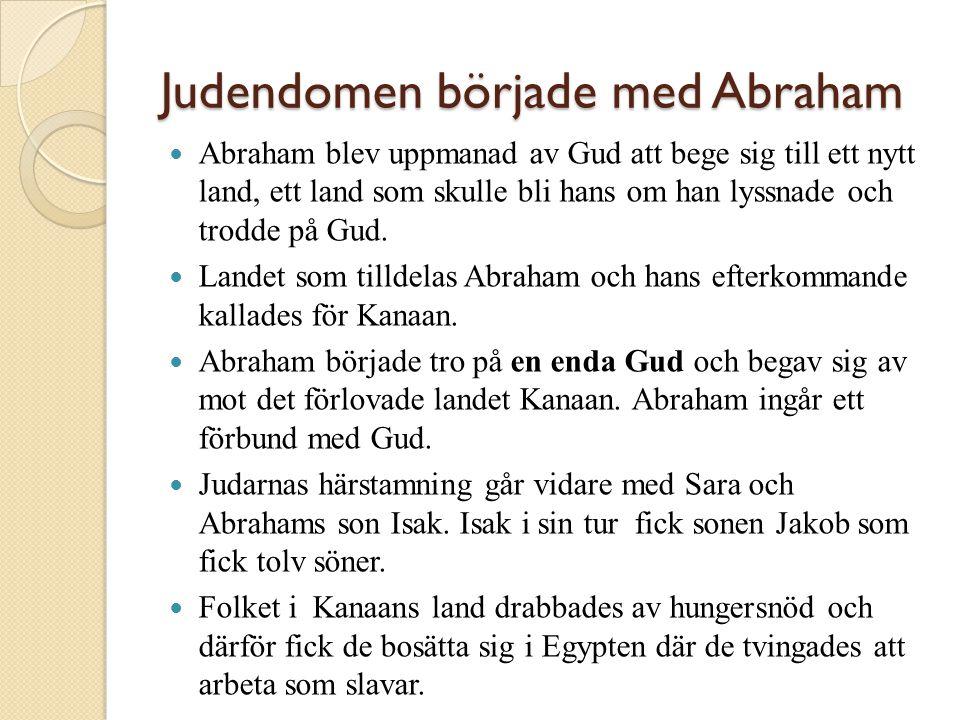 Judendomen började med Abraham