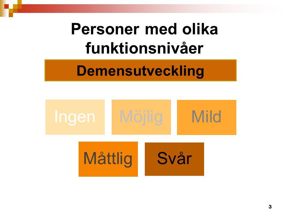 Personer med olika funktionsnivåer