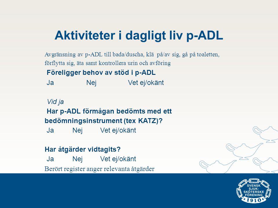 Aktiviteter i dagligt liv p-ADL