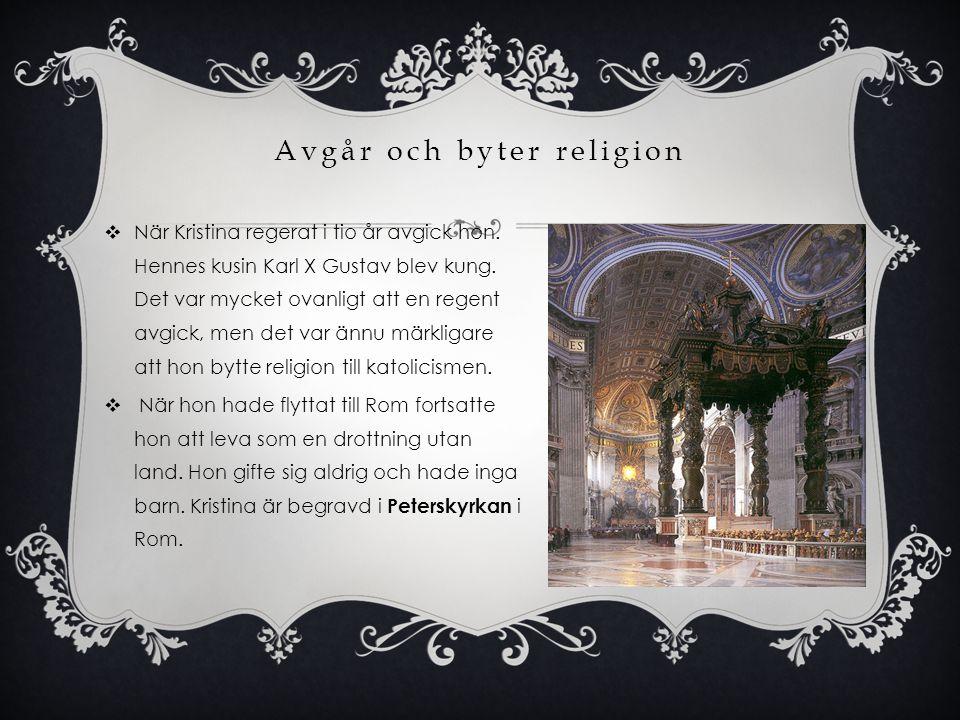 Avgår och byter religion