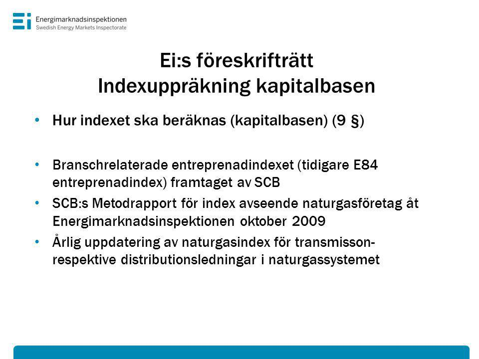 Ei:s föreskrifträtt Indexuppräkning kapitalbasen