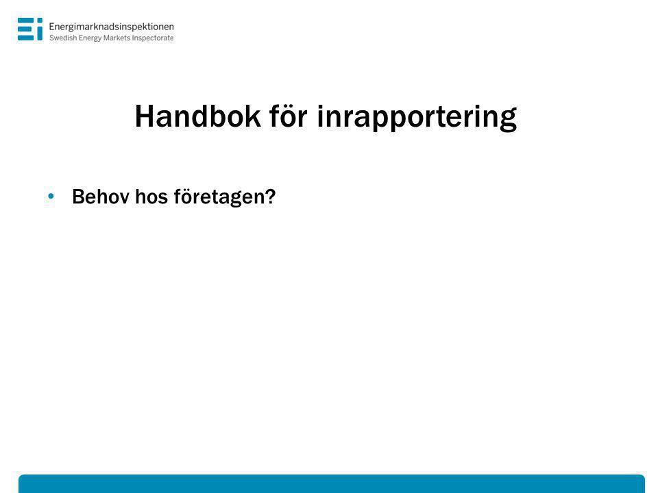 Handbok för inrapportering