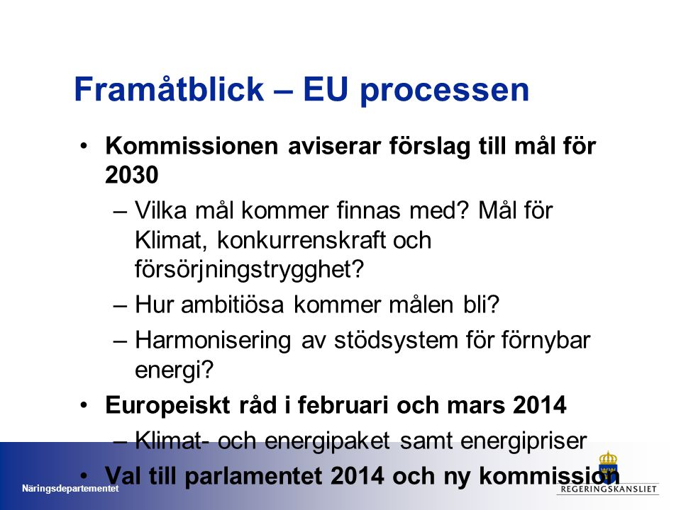 Framåtblick – EU processen