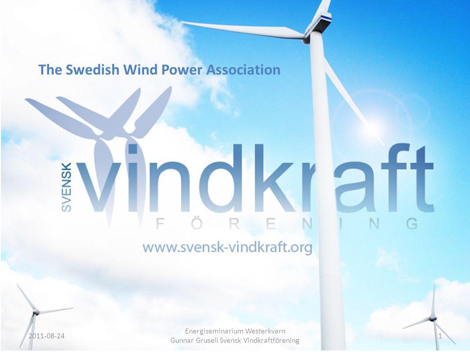 Energiseminarium Westerkvarn Gunnar Grusell Svensk Vindkraftförening