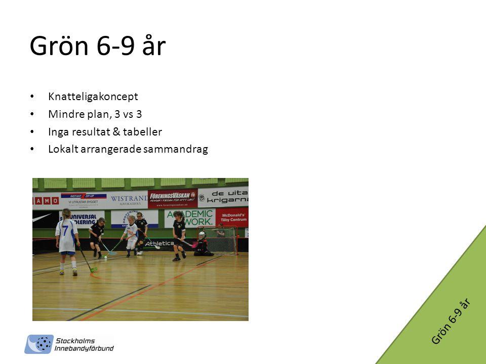 Grön 6-9 år Knatteligakoncept Mindre plan, 3 vs 3