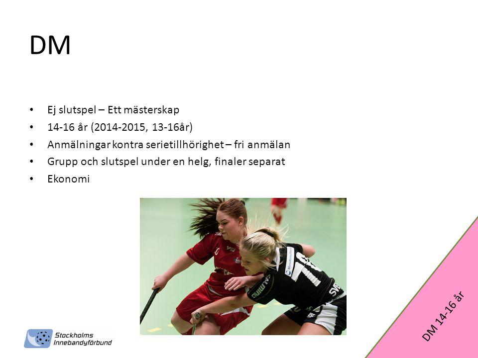 DM Ej slutspel – Ett mästerskap 14-16 år (2014-2015, 13-16år)