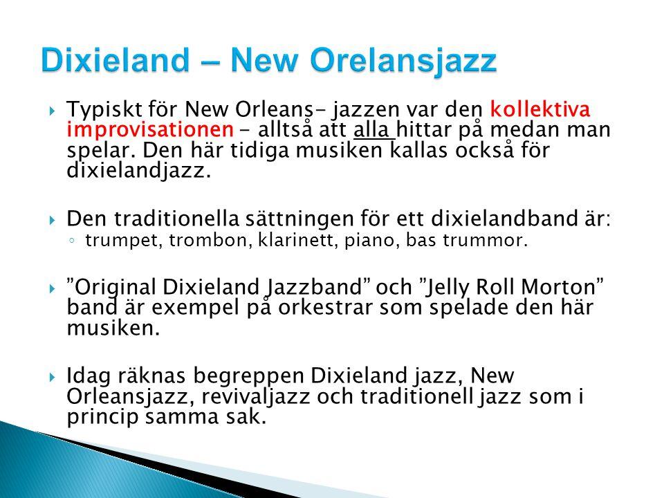 Dixieland – New Orelansjazz