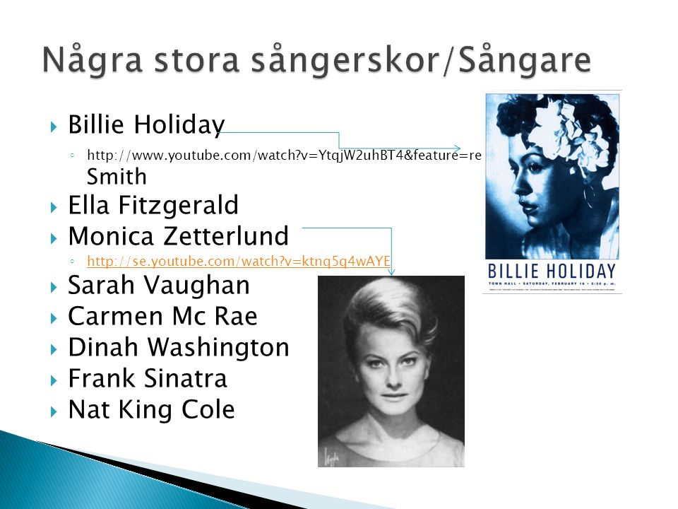 Några stora sångerskor/Sångare
