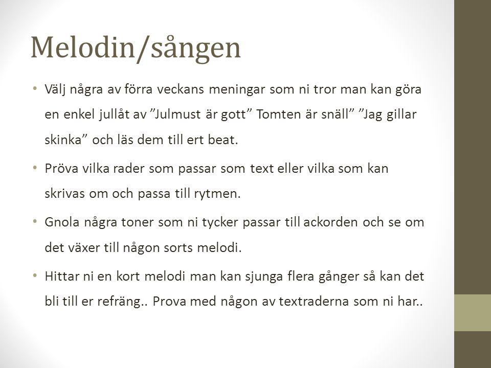 Melodin/sången