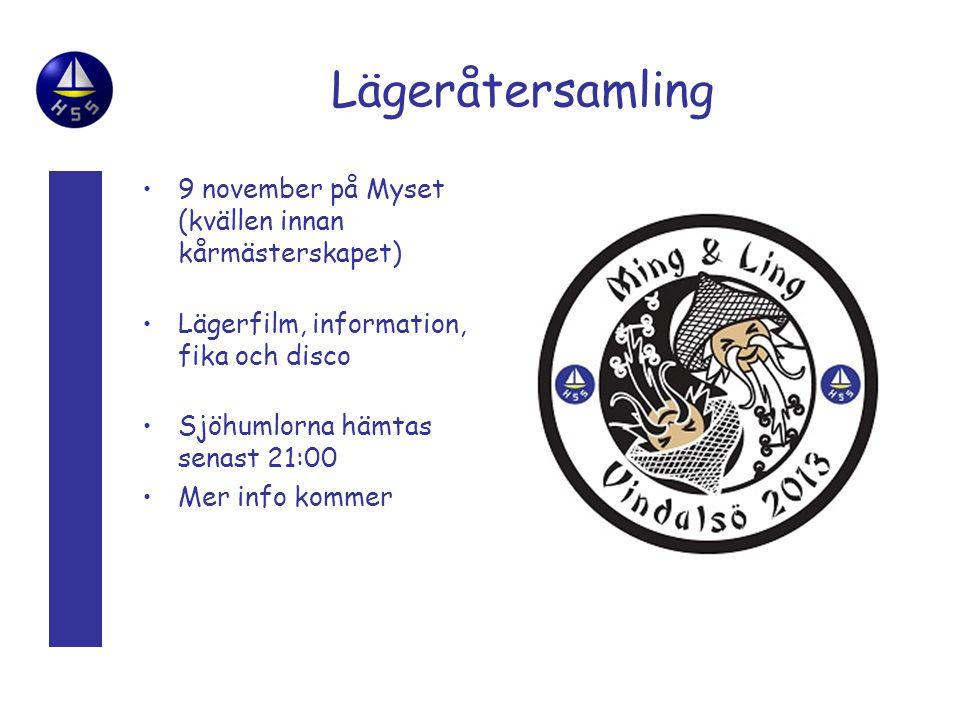 Lägeråtersamling 9 november på Myset (kvällen innan kårmästerskapet)