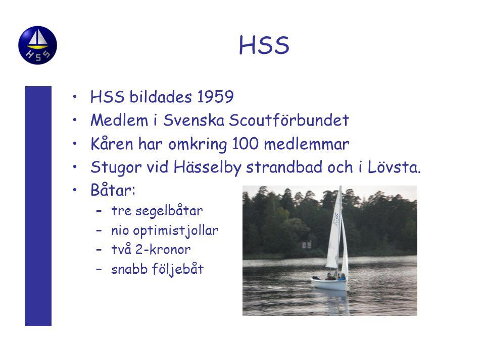 HSS HSS bildades 1959 Medlem i Svenska Scoutförbundet