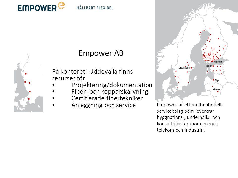 Empower AB På kontoret i Uddevalla finns resurser för
