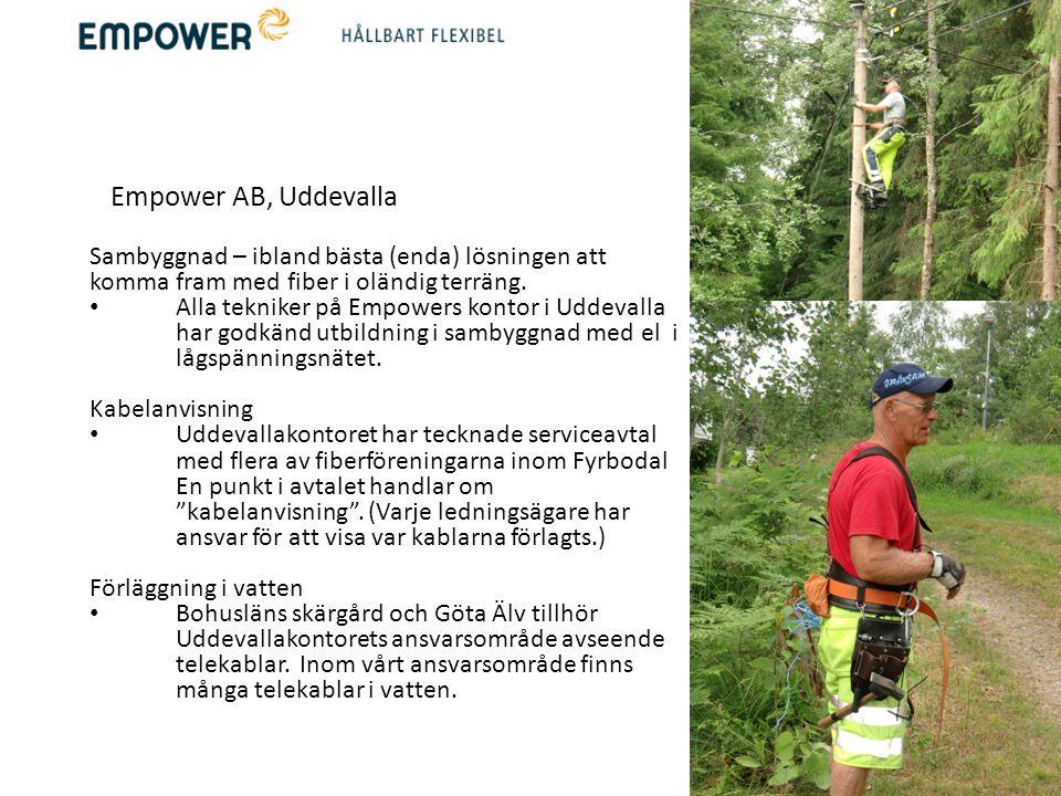 Empower AB, Uddevalla. Sambyggnad – ibland bästa (enda) lösningen att komma fram med fiber i oländig terräng.
