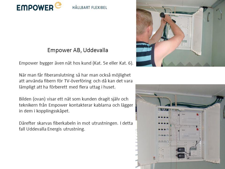 Empower AB, Uddevalla Empower bygger även nät hos kund (Kat. 5e eller Kat. 6).