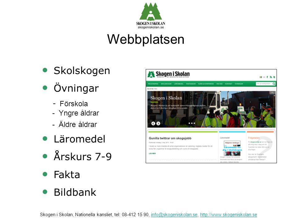 Webbplatsen Skolskogen Övningar - Förskola Läromedel Årskurs 7-9 Fakta