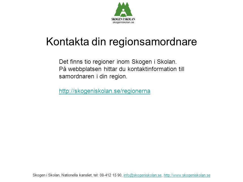 Kontakta din regionsamordnare