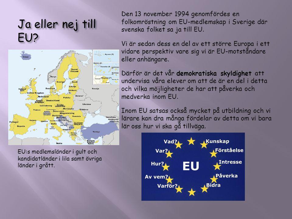 Ja eller nej till EU