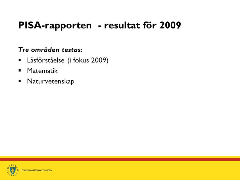PISA-rapporten - resultat för 2009