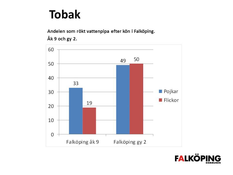 Tobak Andelen som rökt vattenpipa efter kön i Falköping.