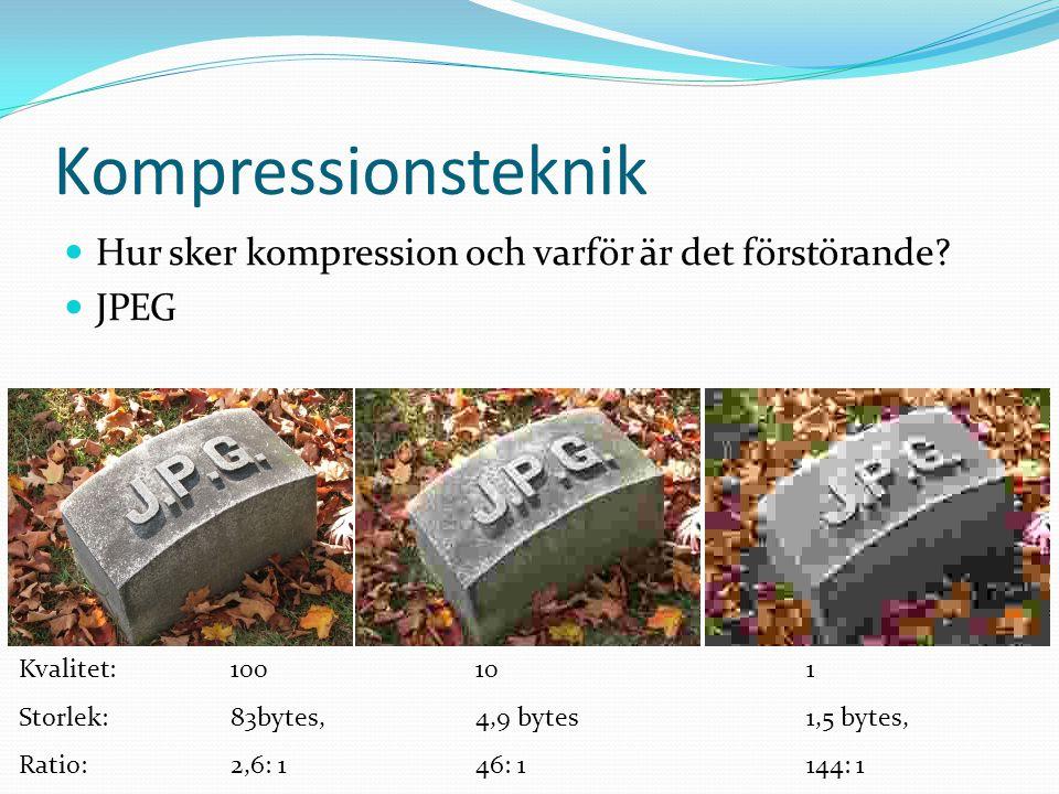 Kompressionsteknik Hur sker kompression och varför är det förstörande