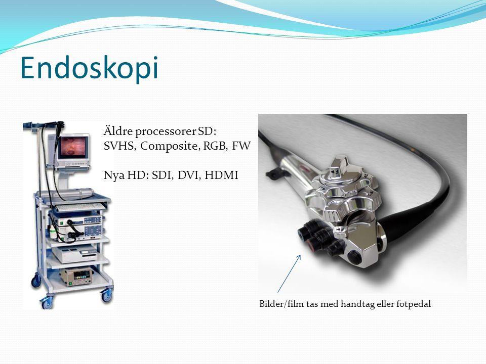 Endoskopi Äldre processorer SD: SVHS, Composite, RGB, FW