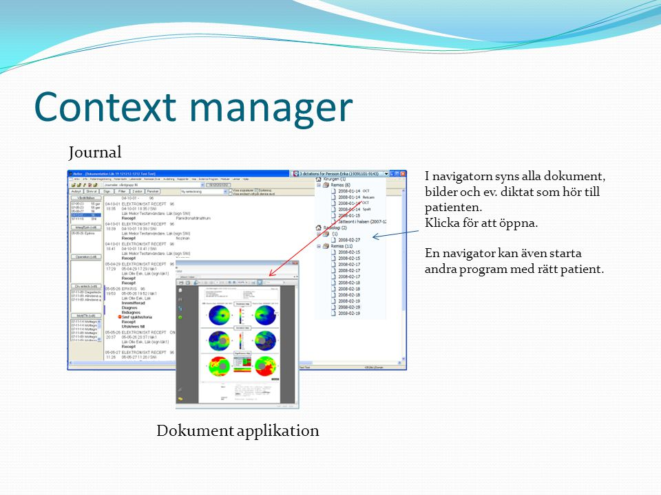 Context manager Journal Dokument applikation