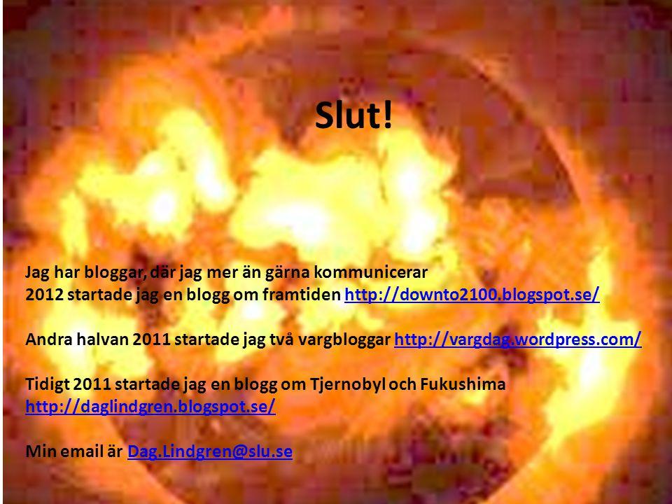 Slut! Jag har bloggar, där jag mer än gärna kommunicerar