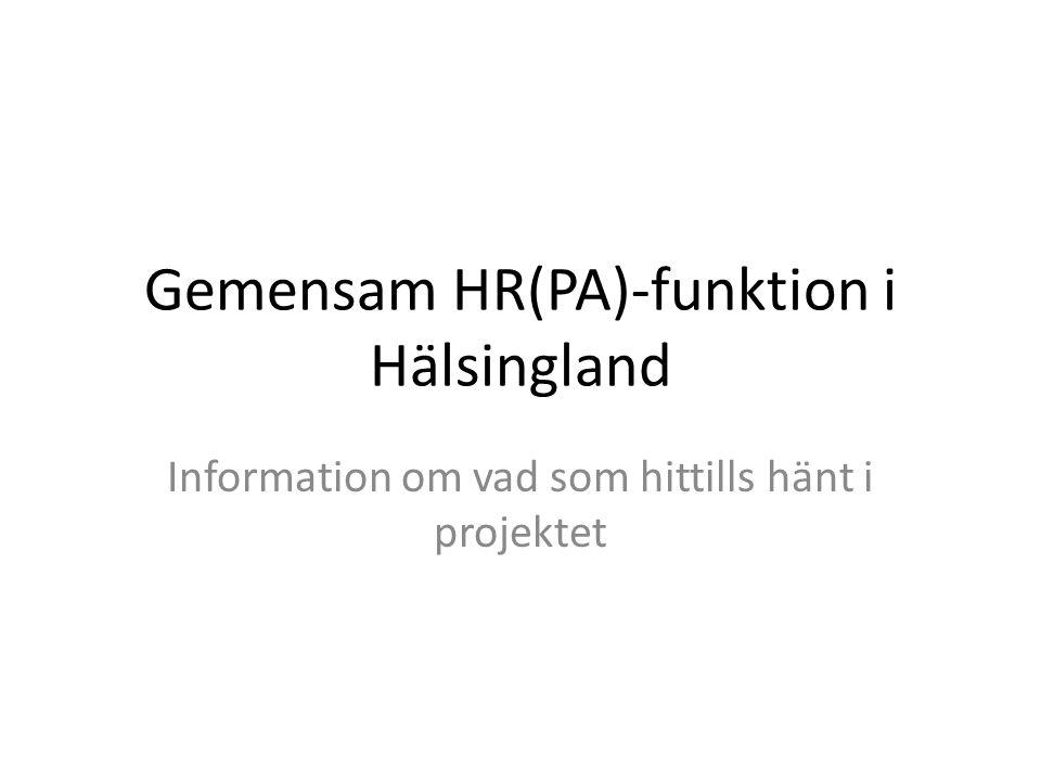 Gemensam HR(PA)-funktion i Hälsingland