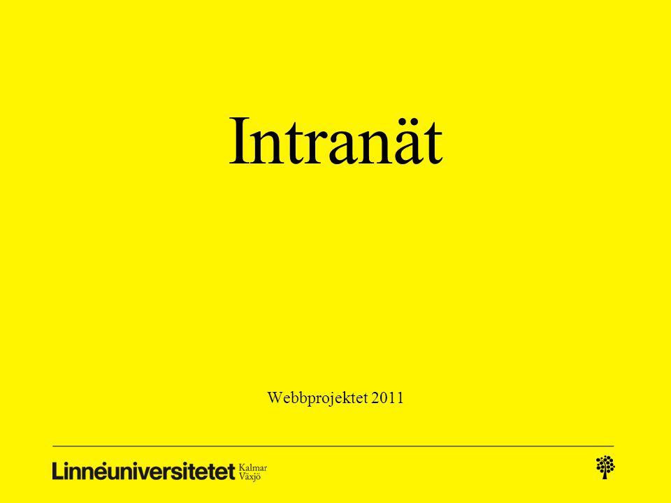 Intranät Webbprojektet 2011