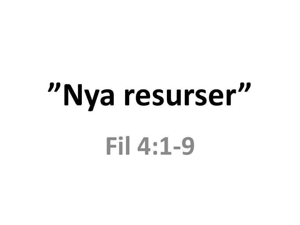 Nya resurser Fil 4:1-9
