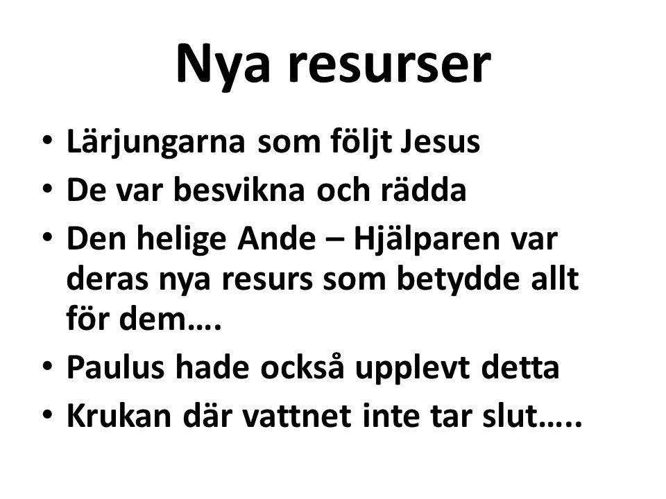 Nya resurser Lärjungarna som följt Jesus De var besvikna och rädda