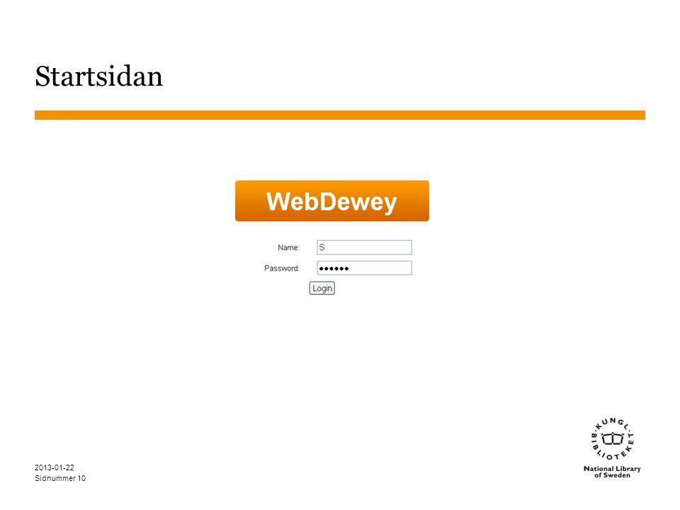 Startsidan 2013-01-22