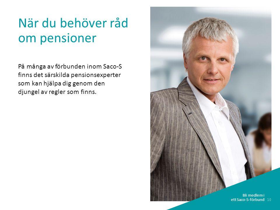 När du behöver råd om pensioner
