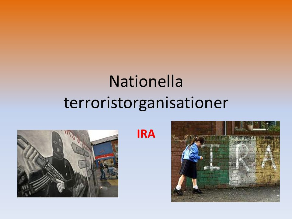 Nationella terroristorganisationer