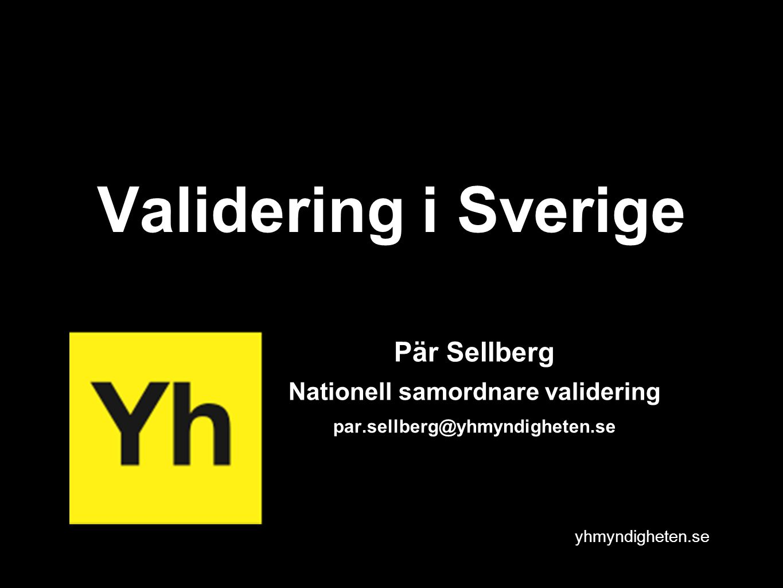 Nationell samordnare validering
