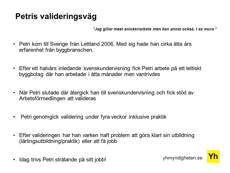 Petris valideringsväg