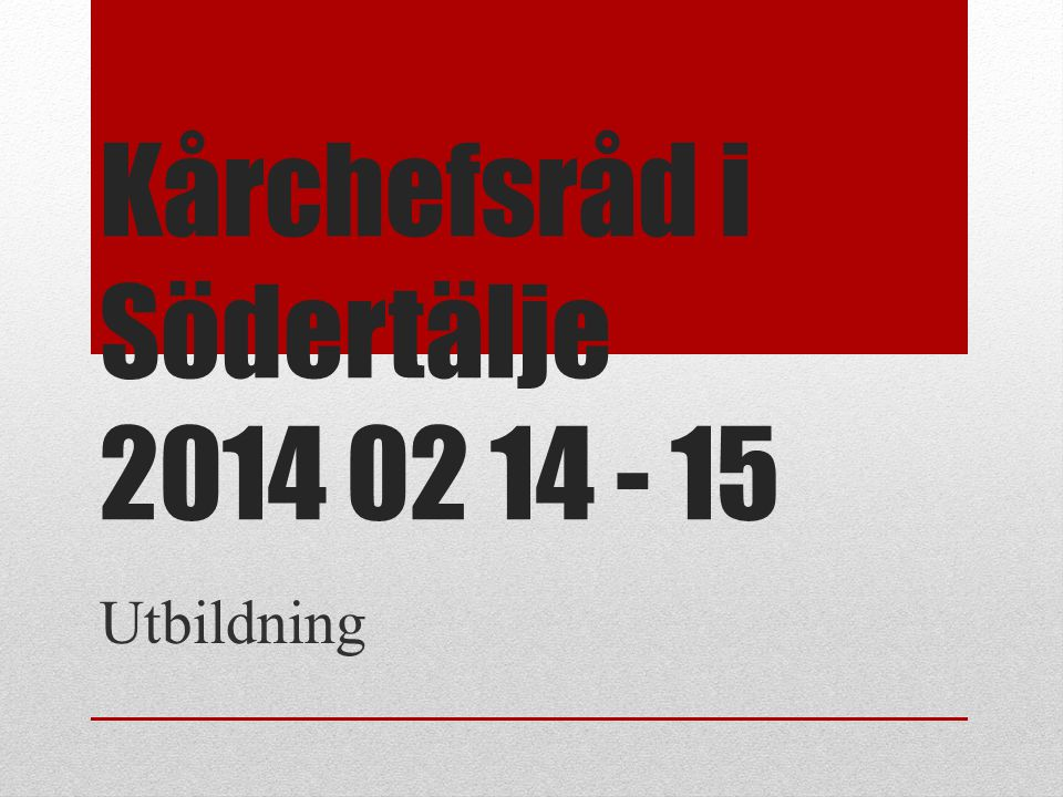 Kårchefsråd i Södertälje 2014 02 14 - 15