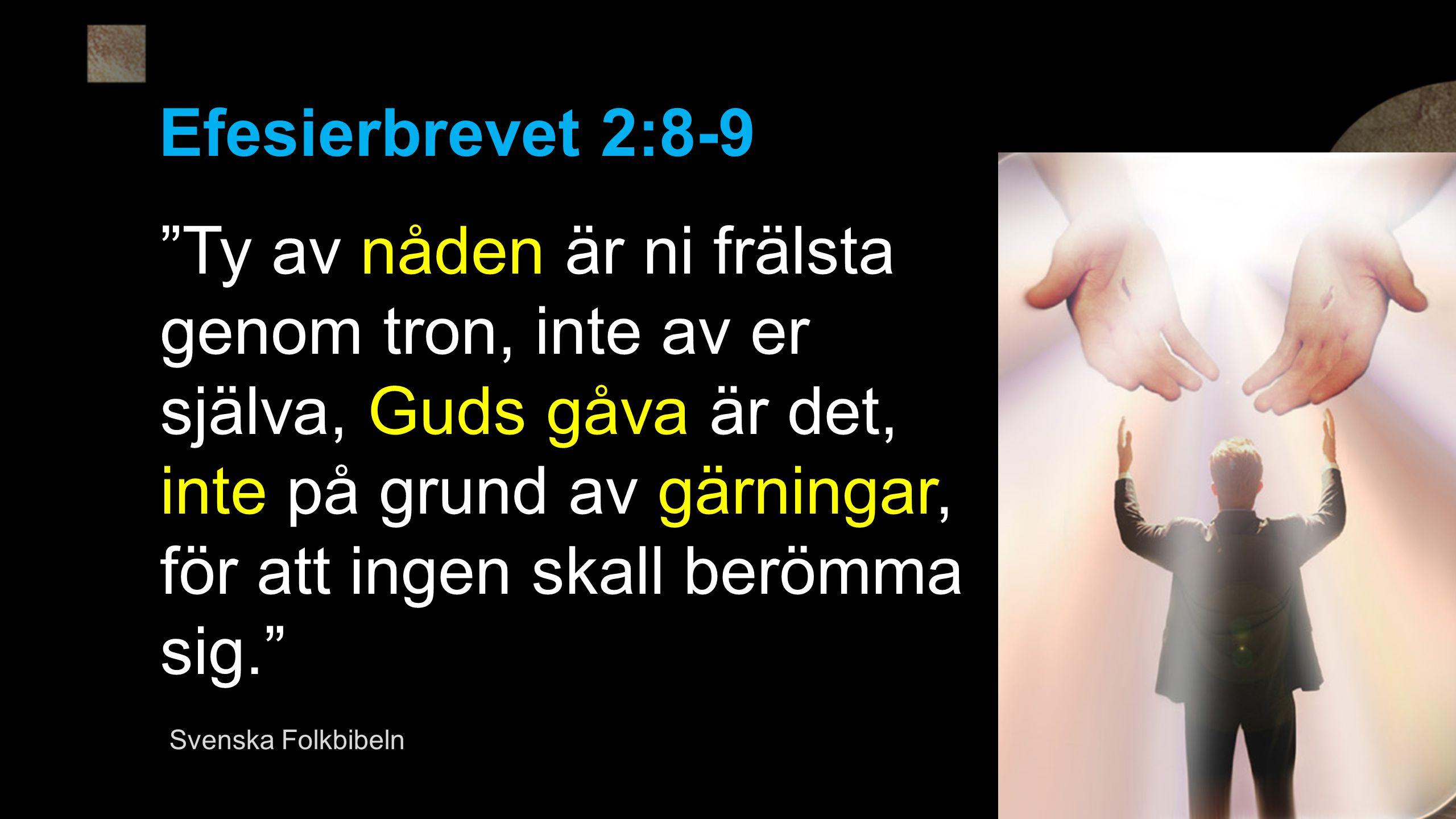 Efesierbrevet 2:8-9
