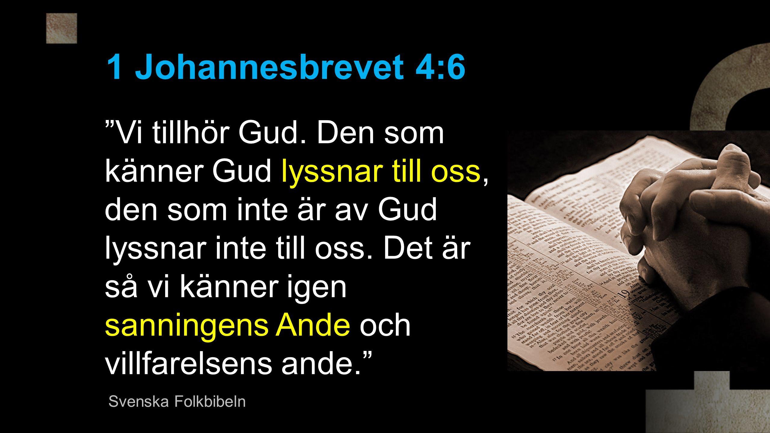 1 Johannesbrevet 4:6