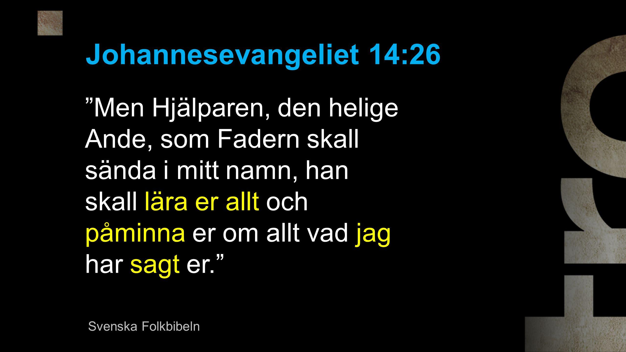 Johannesevangeliet 14:26