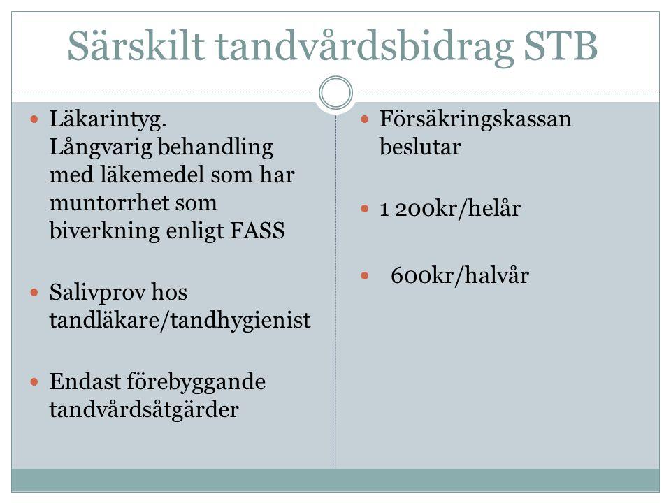 Särskilt tandvårdsbidrag STB