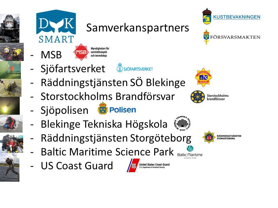 Samverkanspartners MSB Sjöfartsverket Räddningstjänsten SÖ Blekinge