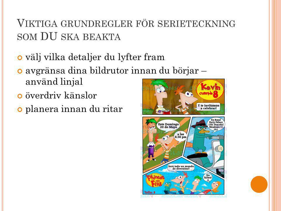 Viktiga grundregler för serieteckning som DU ska beakta