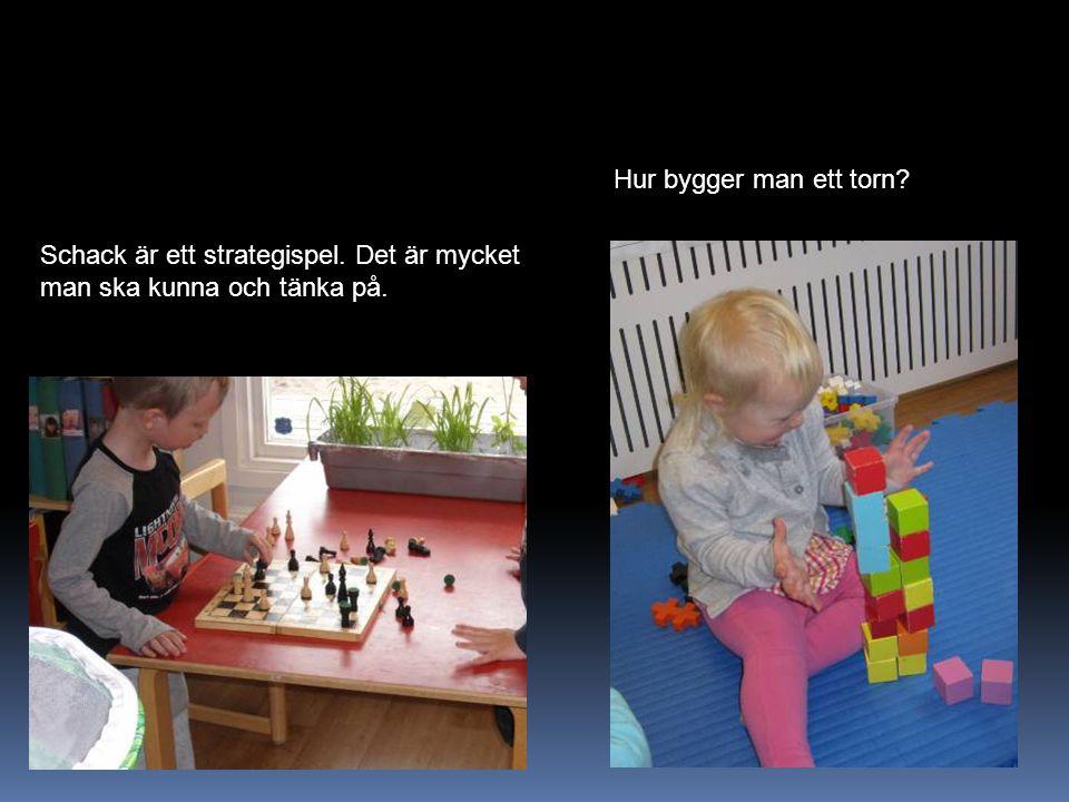 Hur bygger man ett torn Schack är ett strategispel. Det är mycket man ska kunna och tänka på.