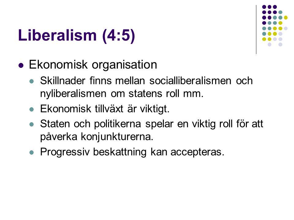 Liberalism (4:5) Ekonomisk organisation