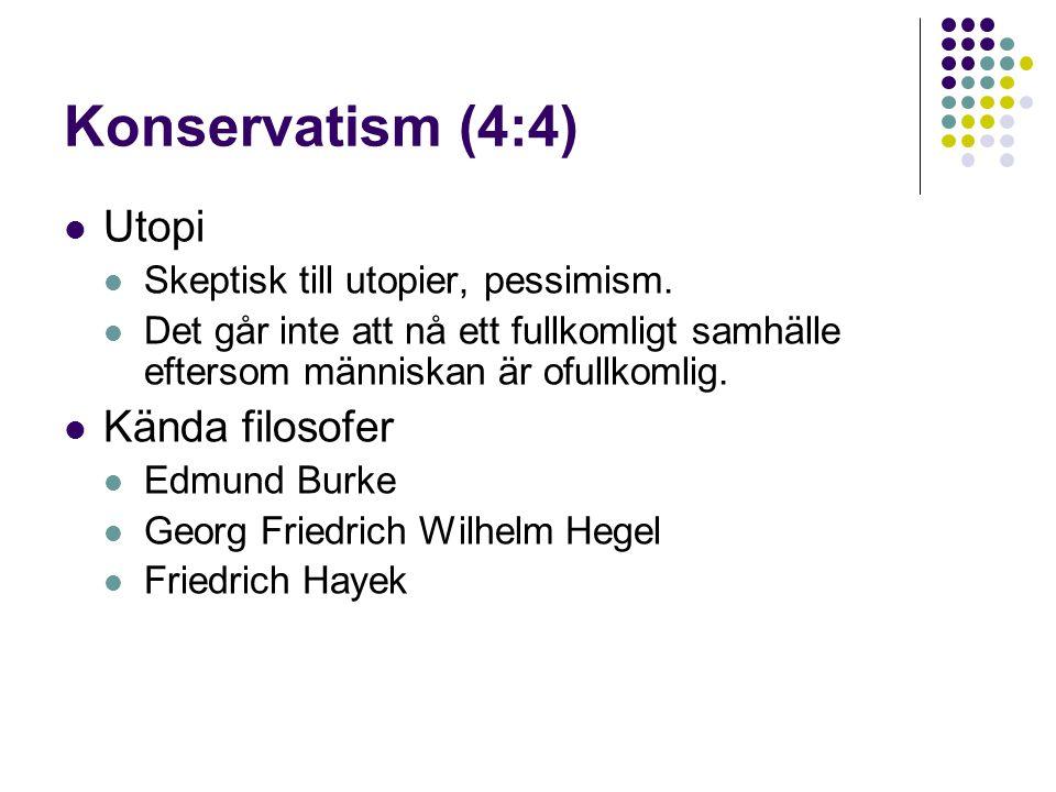 Konservatism (4:4) Utopi Kända filosofer