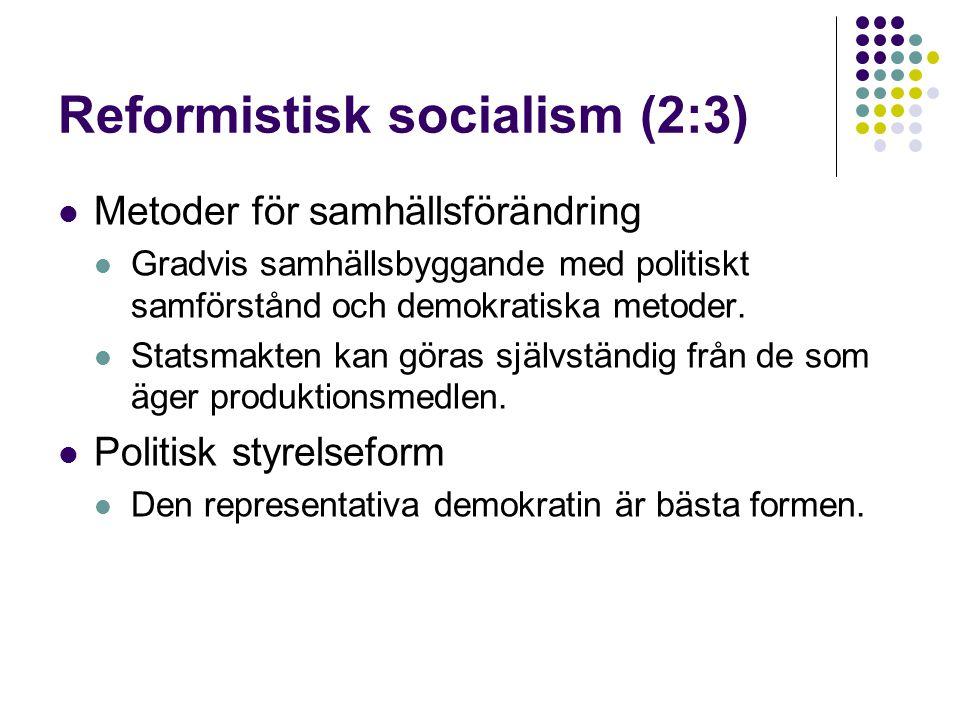 Reformistisk socialism (2:3)