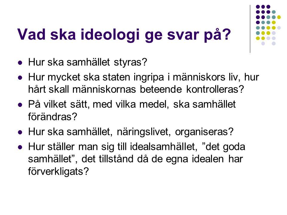 Vad ska ideologi ge svar på