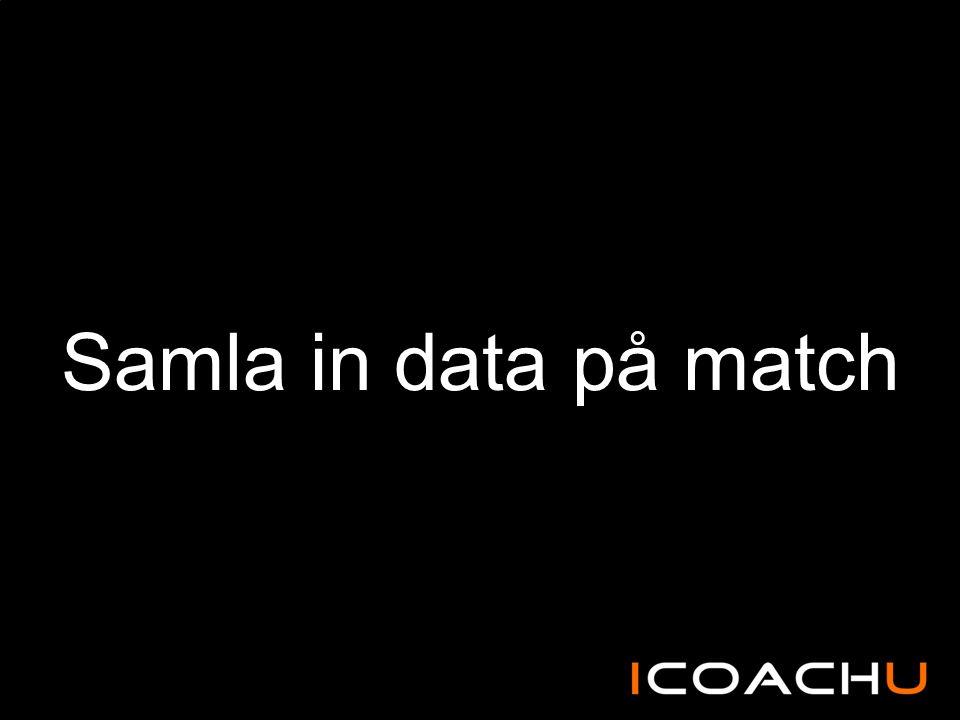 Samla in data på match