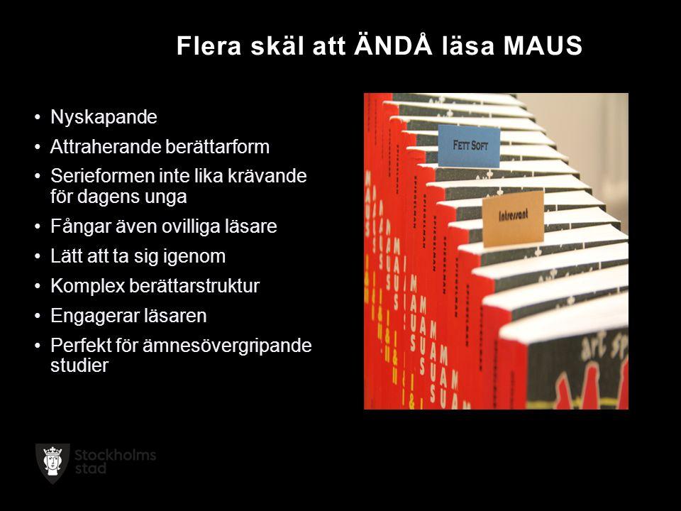 Flera skäl att ÄNDÅ läsa MAUS